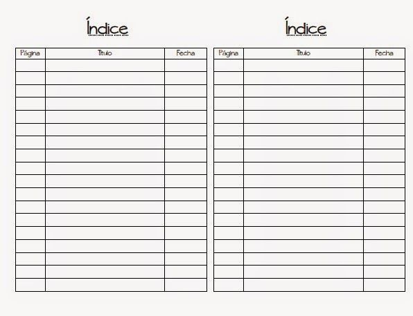 U555U | Images: Blank Table Of Contents Template