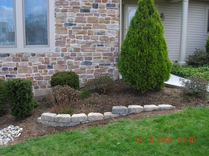 small retaining wall yard pinterest