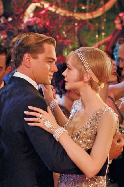 promotion photo of the Great Gatsby movie, 2013 with Leonardo DiCaprio and Carey Mulligan