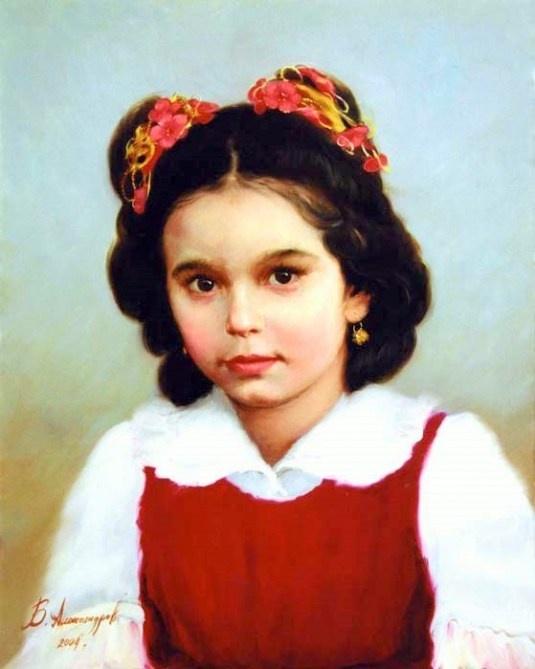 Portrait of a Girl, Vladimir Aleksandrov (Russian)
