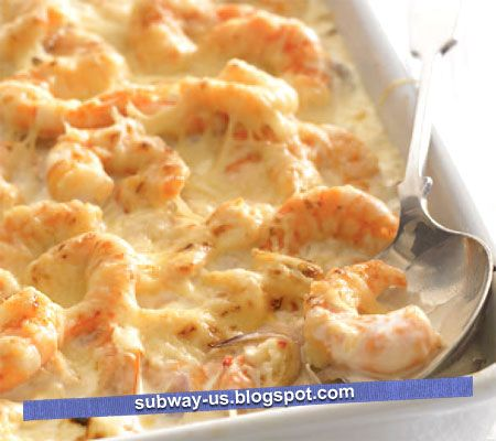 spicy shrimp gratin recipe | Yum-O | Pinterest