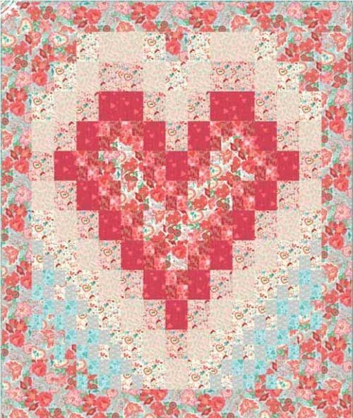 Free Quilt Patterns With Hearts : Free Quilt Pattern - Smitten Quilt quilts for me Pinterest