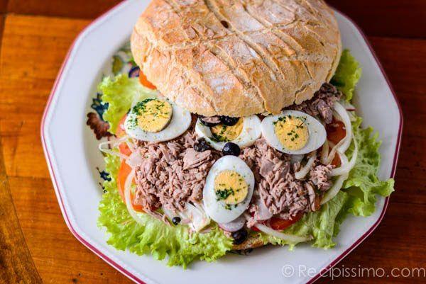 Giant Tuna Nicoise Sandwich | Yummy | Pinterest