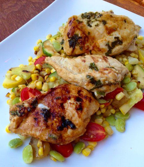 Grilled Lemonade Chicken w/ Summer Succotash | Virginia Willis ...