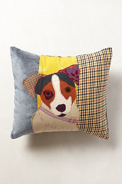 I want this, but it's $200!! What the heck?? Patchwork Hound Pillow   #anthropologie