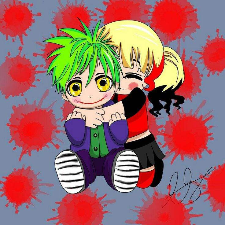 Chibi Joker & Harley Quinn | Harley Quinn & Joker | Pinterest