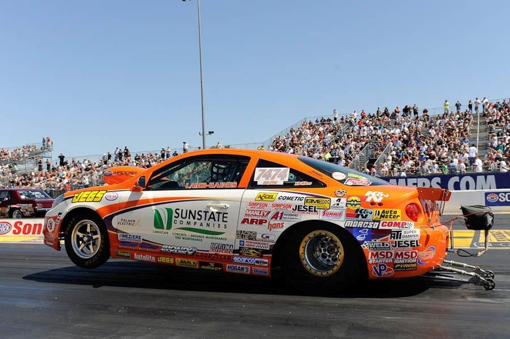 Justin Lamb Wins 25th Anniversary Sonoma Nationals NHRA Super Stock Wally. We see that OPTIMA contingency decal on there!