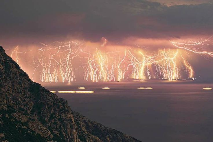 mother nature light show