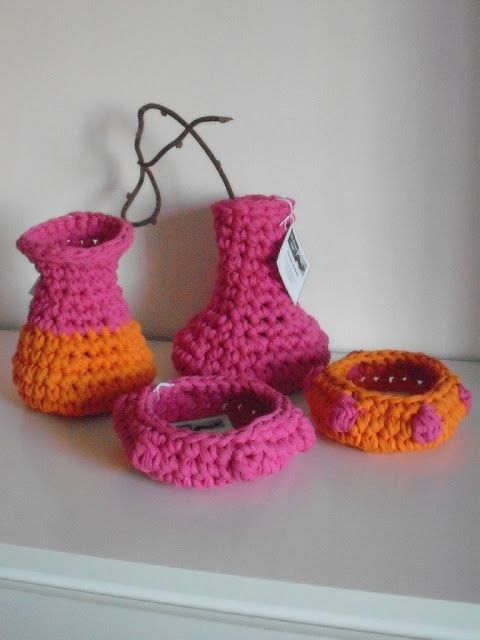 Crochet New Design : new crochet design - jars and nests Crochet ideas Pinterest