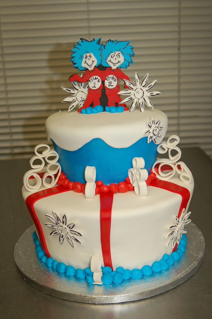 ... thing 2 twins baby shower cake by Cake is the Best Part, Redding, CA