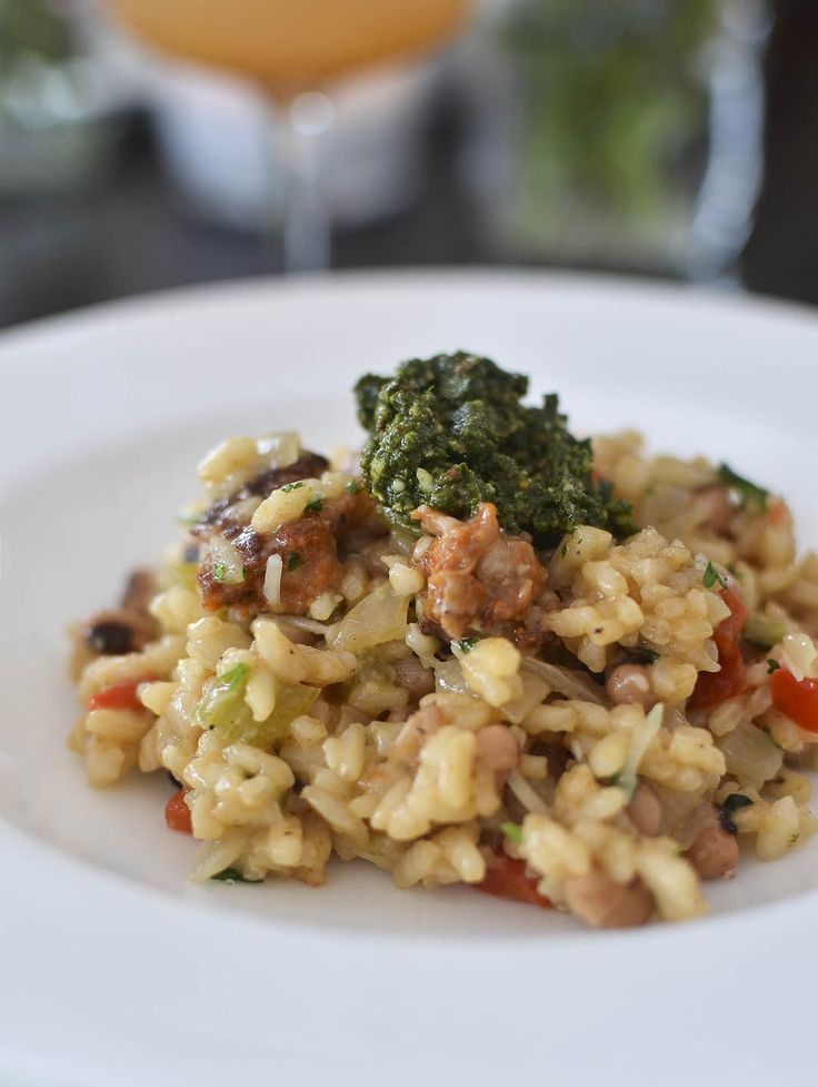 Hoppin' John Risotto with Collard Pesto Recipes from The Kitchn