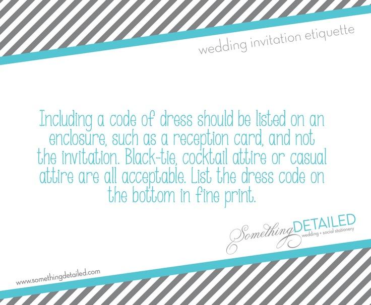 Wedding Invitation Wording Etiquette Dress Code