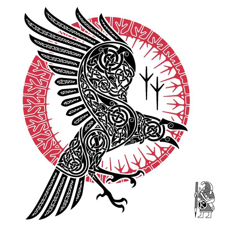 Amazoncom Celtic Raven Pendant Jewelry