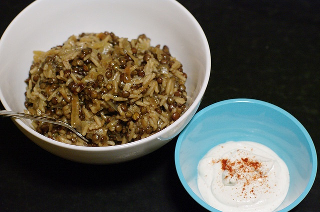 Lentils And Rice With Fried Onions (Mujadarrah) Recipe — Dishmaps