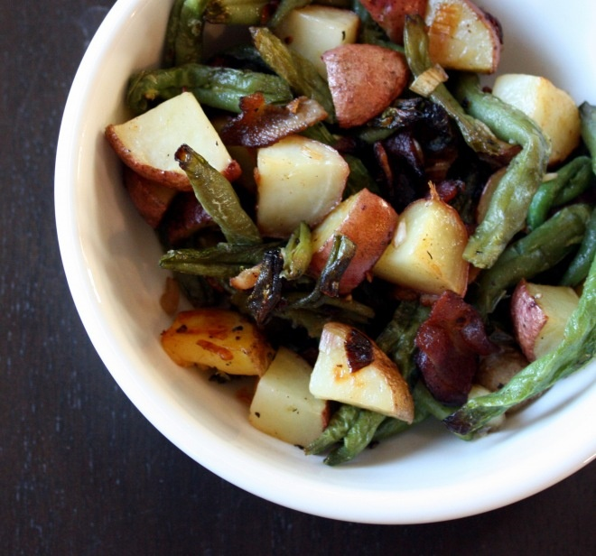 roasted green beans, potatoes and bacon | Lunch and Quick Meals | Pin ...