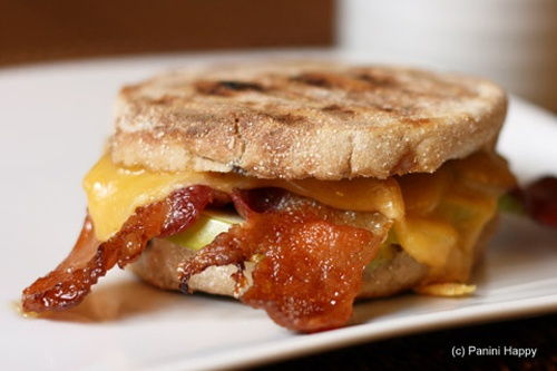 Bacon, Apple & Cheddar Breakfast Panini | Crazy for Paninis | Pintere ...