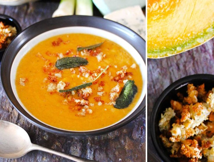 Pumpkin soup with sage and blue cheese | Soups | Pinterest
