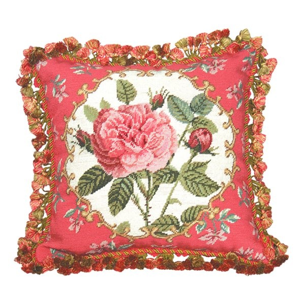 123 Creations C230 18x18 Rose Decorative Pillow