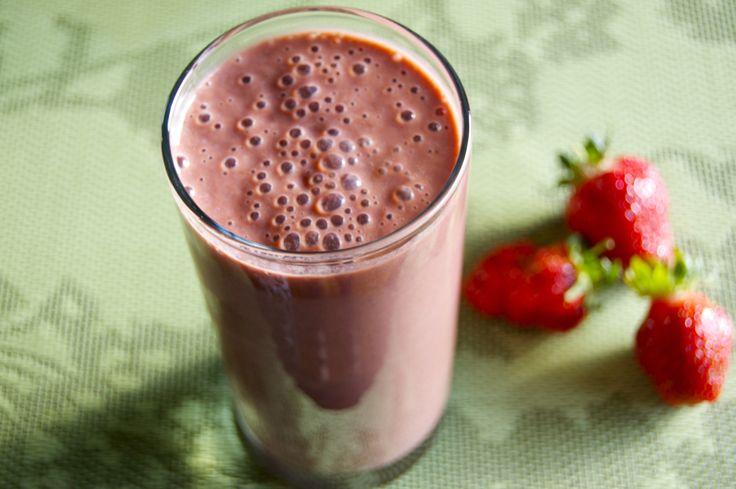 Strawberry Soy Smoothie Recipe — Dishmaps
