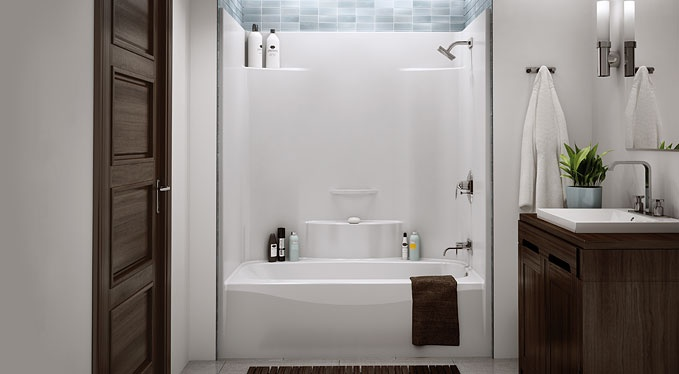 One Piece Acrylic Tub Shower Insert For The Home Someday Pinterest