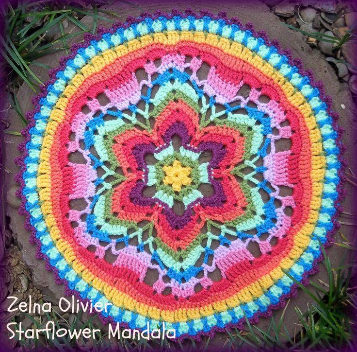 Starflower Mandala: Pattern Crochet Pinterest