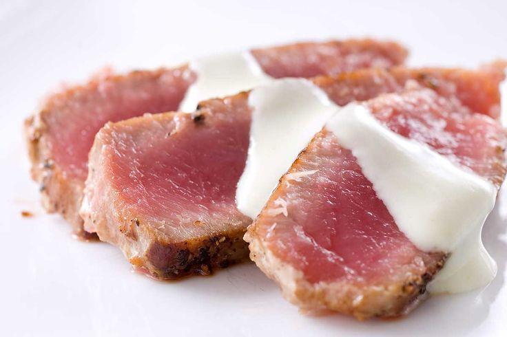 Seared Ahi Tuna with Wasabi Cream | Recipe