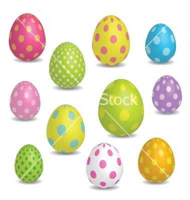 Easter eggs vector on VectorStock® | VectorStock - Clipart Love | Pin ...