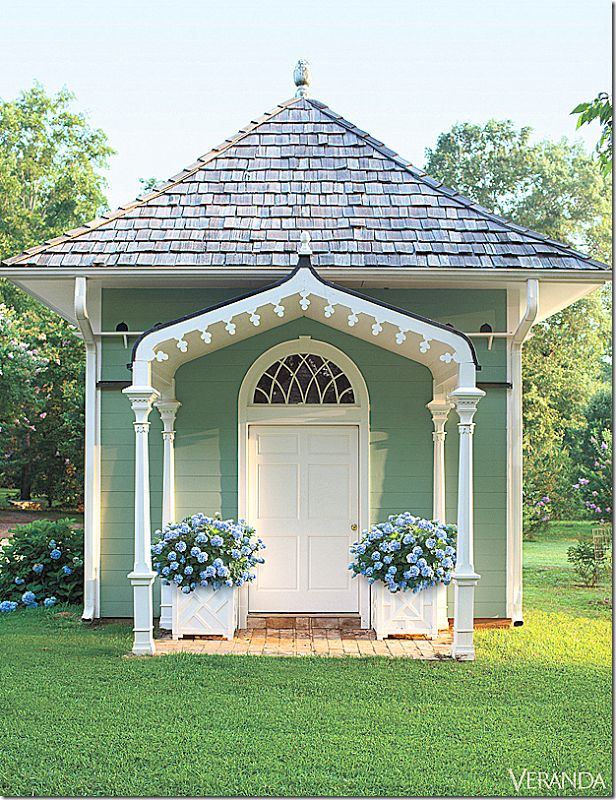 garden shed or guest house so pretty home Pinterest