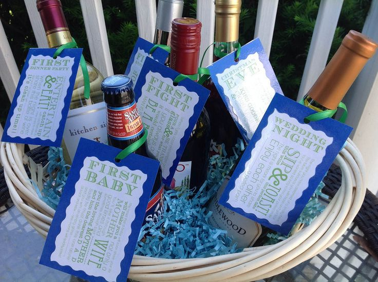 Bridal Shower Wine Gift Basket Ideas : Go-To-Gifts: Bridal Shower Wine Basket gift ideas Pinterest