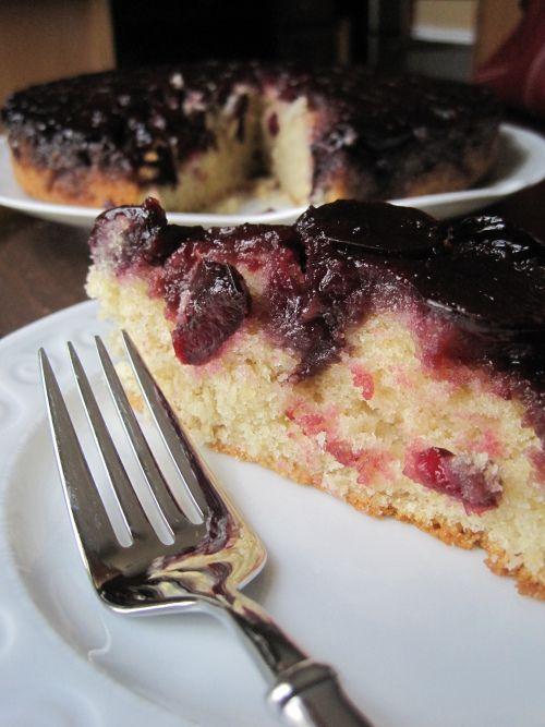 upside down cherry & almond cake | Cakes & Tarts | Pinterest