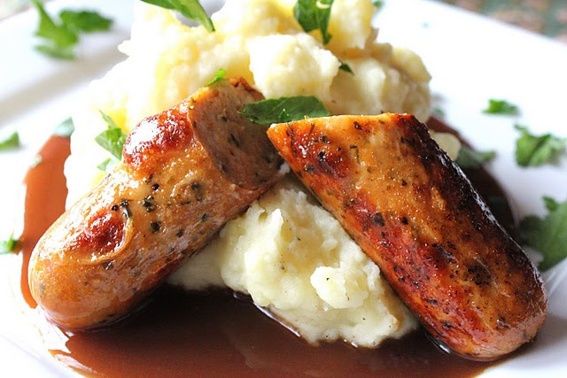 Uh-mazing! Bangers and Mash... because I must eat English food while ...