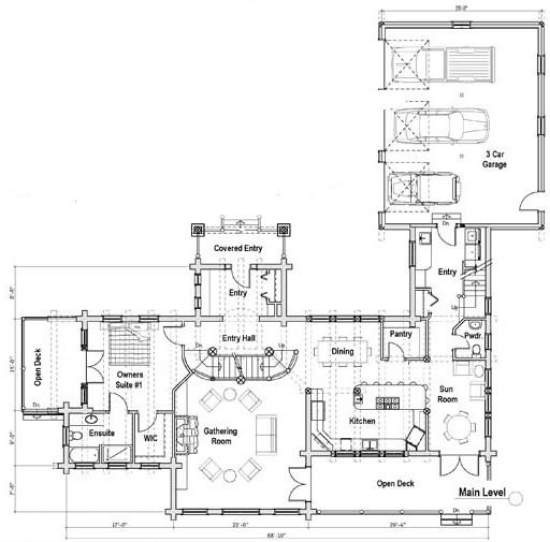 The Yakima Floor Plan Avalon Log Homes House Floor