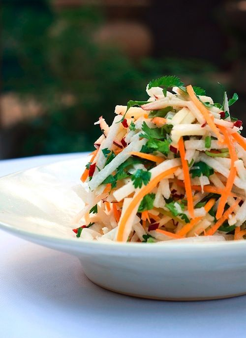 jicama salad || For my family, I'd take out the spicy stuff and add ...