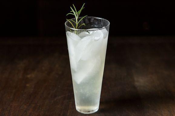 Rosemary Gin Lemon cocktail: rosemary simple syrup, gin, fresh lemon ...