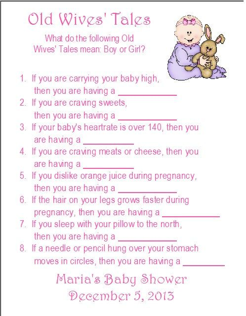 game old wives 39 tales trivia printable baby shower game people with