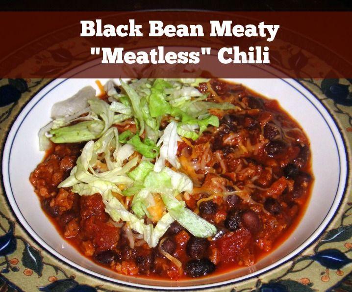 "Vegetarian Meaty ""Meatless Black Bean Chili"