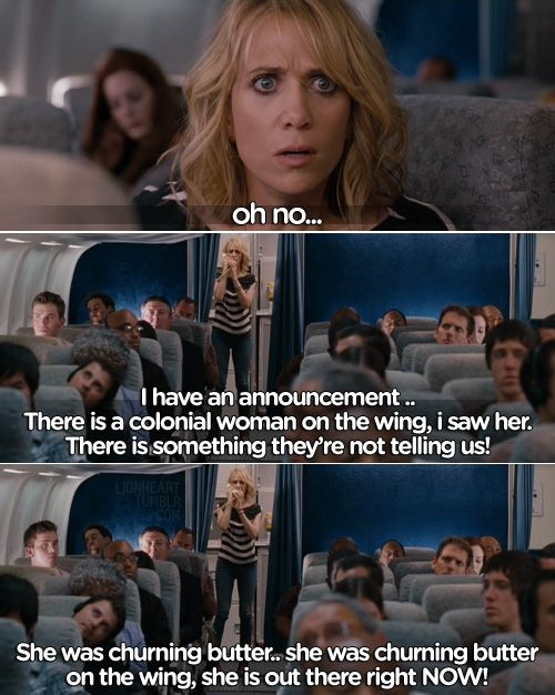 There is a colonial woman on the wing! There is something they're not telling us!