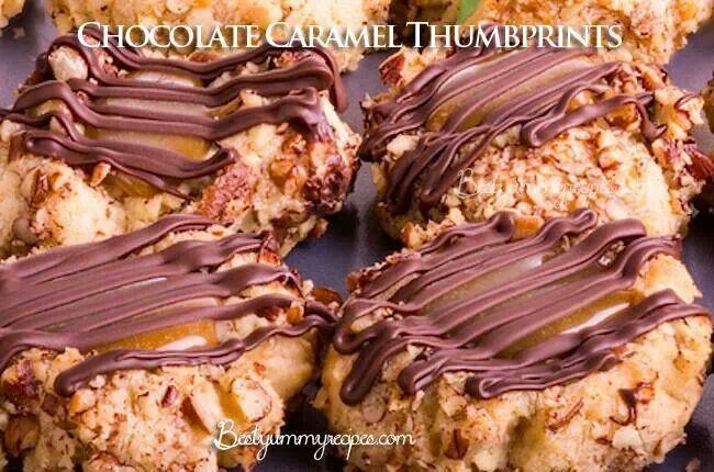 Chocolate Caramel Thumbprints