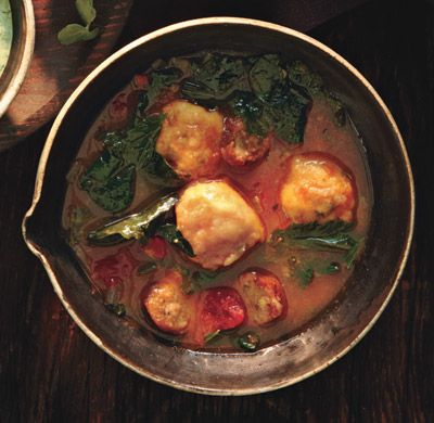 Mixed-Greens and Sausage Soup with Cornmeal Dumplings Recipe at ...