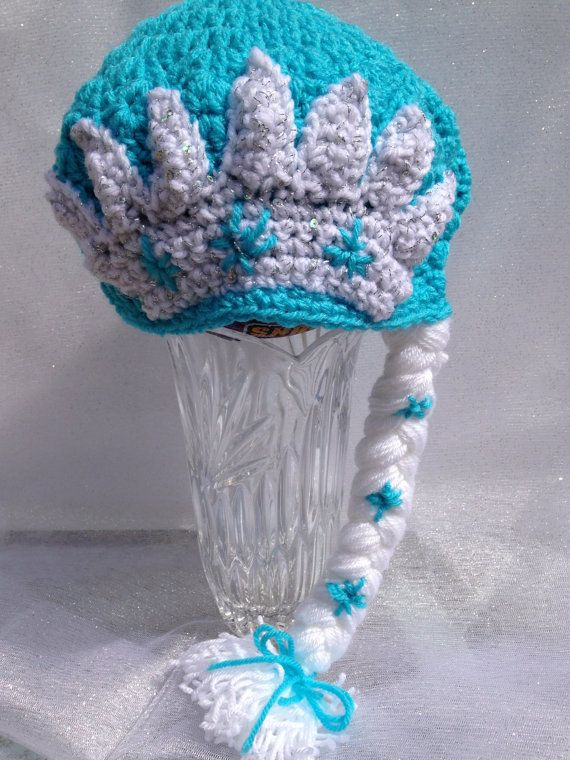 Frozen inspired elsa hat crochet toddler hat elsa hat elsa hat
