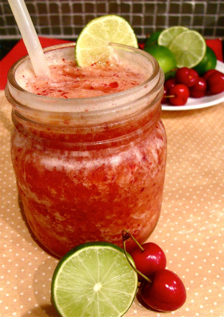 Cherry Limeade Slush from Urban Strawberries. Click through for recipe ...