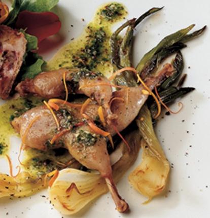 quail with rose-parsley pesto | Food | Pinterest
