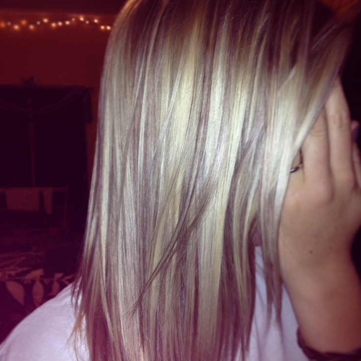 Highlights and lowlights on blonde hair | Hairstyles | Pinterest