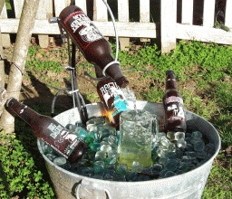 beer bottle fountain things to make pinterest