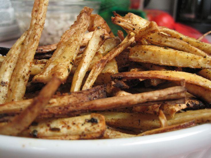 Cajun Parsnip Fries | grain free | Pinterest