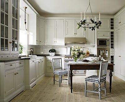 Swedish Country Style Unique With FarmhouseStyle Kitchen Cabinets Photo