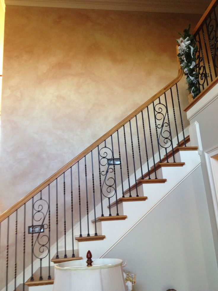 Stone-like Sherwin Williams Venetian Plaster with glaze gives an old ...