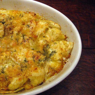 cauliflower-fennel-gratin | Side Dishes | Pinterest
