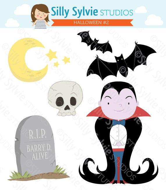 Cute Halloween Clip Art Vampire Theme by SillySylvieStudios   4 50Cute Vampire Clipart
