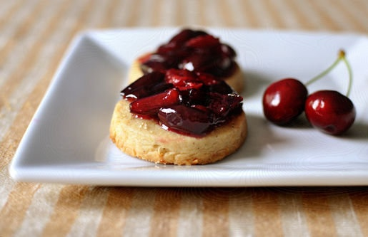 cherry jam with lemon-pepper shortbread. surprisingly easy, and a fun ...